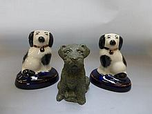 A small pair of Staffordshire style spaniels and