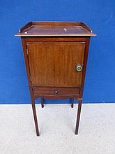 A 19th Century mahogany pot cupboard with three