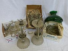 A quantity of Victorian glass drops, bag