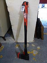 A Dekton fibreglass axe and log splitter.