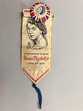 A rare 1953 Coronation souvenir button and