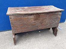 An 18th Century rustic oak coffer of small size.