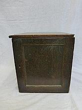 A 19th Century oak collectors cabinet of five