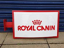 A Royal Canin wall hanging light box.