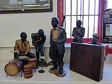 A model of a native American jazz group.
