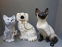 A Kensington No.31 Winstanley ceramic cat, a