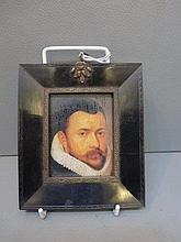 A decorative miniature study of an Elizabethan