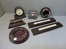 A collection of bakelite items including two
