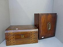 A 19th Century parquetry decorated walnut