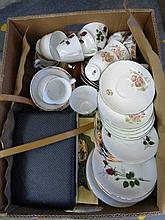 An assortment of ceramics and metalware etc.