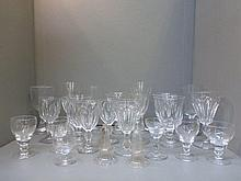 A collection of assorted drinking glasses