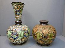 Two decorative vases of unusual style.