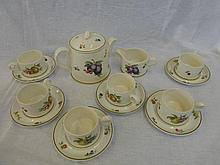 A six-person Wedgwood coffee set in the 'Fruit