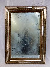 A 19th Century gilt framed border glass mirror.