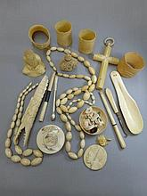 A collection of late 19th/early 20th Century ivory