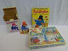 A collection of Paddington Bear memorabilia: a