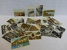 A small collection of early postcards relating to