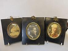 Three early 20th Century ebonised picture frames.
