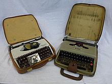 Two cased typewriters - Olympia Splendid 99 and a
