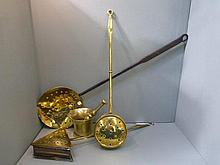 Two 19th Century brass chestnut roasters, a 19th