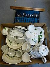 A Swinnertons Somerset ivy pattern dinner service,