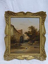 THOMAS CRESWICK R.A. 1811-1869 - 'The Mill Pool',