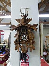 A Triberg blackforest cuckoo clock by Gustav Able,