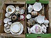 Two boxes of assorted ceramics including a Royal