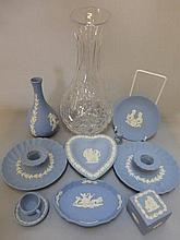 A selection of Wedgwood jasperware blue and white