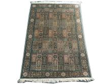 Fine Indian Kashmir silk rug, 1.78m x 1.21m. Condition rating A.
