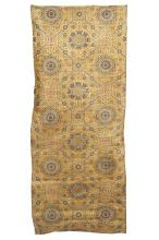 A CHINESE YELLOW GROUND SILK BROCADE TEXTILE.     Qing Dynasty.     194 x 73cm.      ?????????