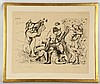 PABLO PICASSO (SPANISH 1881-1973), 'BACCHANALE', 1955, lithograph, signed and dated in the plate, and signed by the artist in pencil lower right, and inscribed 'Epreuve d'artiste' (Artist proof) in pencil, (img; 29.5 x 46cm, paper; 39.5 x 49cm)   Provenance: Purchased directly from the Artist's studio in Mougins, France by Cecilia Green; muse and model of artist Sir William Russell-Flint RA. Then by decent., Pablo Picasso, £5,000