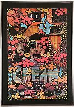 MARTIN SHARP (AUSTRALIAN 1942-2013), ORIGINAL 1968 'CREAM' POSTER, printed by Big O Posters, (75 x 50cm)