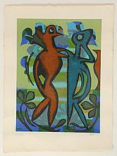 EILEEN AGAR (BRITISH 1899-1991), PAST AND PRESENT', 1990, screen print on wove, signed and numbered, 65/75, in pencil, (paper; 74 x 56cm)