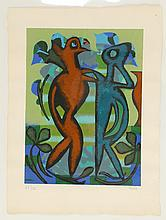 EILEEN AGAR (BRITISH 1899-1991), PAST AND PRESENT', 1990,screen print on wove, signed and numbered, 47/75, in pencil, (paper; 74 x 56cm)