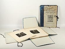 Scottish portraits, edited by James L. Caw, limited edition of 350, portfolios II & III, folios of black and white plates.
