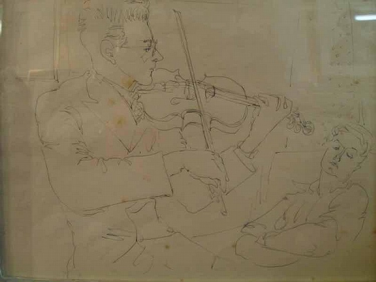 Peter Samuelson, a parcel gilt framed watercolour
