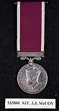 A George VI Long Service & Good Conduct medal,