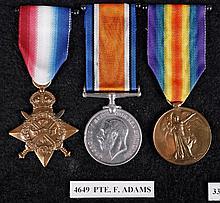 A World War I medal trio comprising 1914 Star,