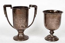 A silver twin arm trophy cup, Kingston Civil