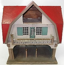 A toy stable and groom's lodging with loose boxes