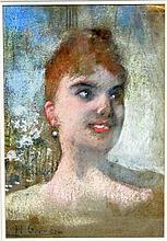 Henri Gervex (French 1852 - 1929)/Femme Rousse/bus