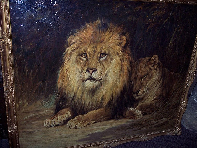 Robert Morley RBA THE PROTECTOR (a recumbent lion
