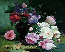 A Mancini/Still Life of Flowers/signed/oil on board, 20cm x 24cm