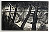 Christopher Richard Wynne Nevinson (British 1889-1946) ARR/Le Pont Royal, Paris/etching/signed in pencil, 27.5cm x 43cm