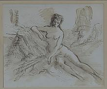 Gerald Ososki/Reclining Nude/signed in pencil