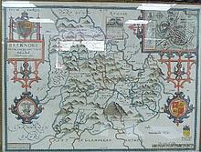 John Speed/County Map of Breknoke/double-sided
