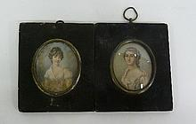 19th Century English School/Portrait Miniature of