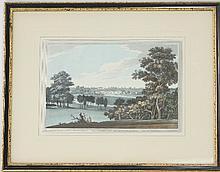 J C Stadler after J Farington/ View of Chertsey