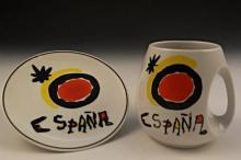 Joan Miro Style Plate & Cup